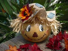 Painted Gourd Scarecrow