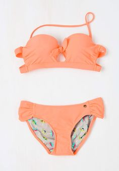 Coming Bright Up Swimsuit Top. So, you want to take a dip in a look as vibrant as the sun itself? #orange #modcloth