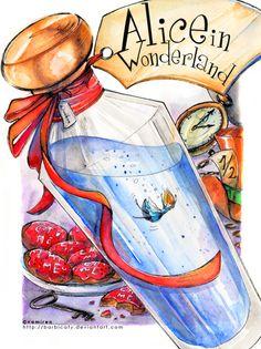 {Wonderland} Alice in Wonderland #art #illustration #aliceinwonderland