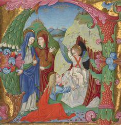 Cutting from an Antiphonal, about 1465, Bartolomeo Rigossi da Gallarate. Tempera colors, gold leaf, and ink on parchment.