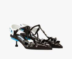 Prada Woman - Pump - Black+denim blue - 1I612H_A17_F0D6X_F_DD55