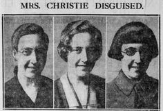 A cutting from the Daily News, December 11th, 1926, showing how Agatha Christie may have disguised herself after her disappearances.