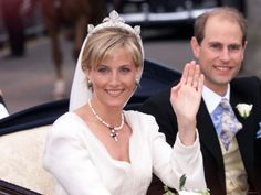Prince Edward and Sophie Rhys-Jones said 'I do' in June 1999 and became the Earl and Countess of Wessex, leaving the Church at Windsor