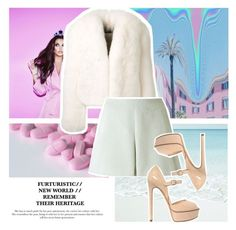 """""""Always stay gracious, best revenge is your paper"""" by sunshineb ❤ liked on Polyvore featuring Alexandre Vauthier, Ilja, Casadei, Pink, queen and furcoat"""