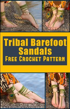 Crochet Barefoot Sandals - 50+ Free Crochet Patterns - Page 5 of 10 - DIY & Crafts