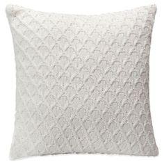 Berkshire Diamond Sweater Knit Square Throw Pillow - BedBathandBeyond.com