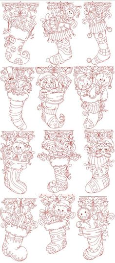 Machine Embroidery, Applique Embroidery Designs, Redwork, Colorwork