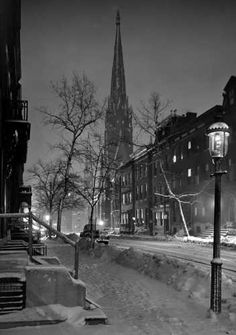 Bodine Print: Snow on Park Avenue by A. Aubrey Bodine - my favorite!