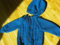 sweater and hat baby boy set by LovelyhandmadeRaluca on Etsy