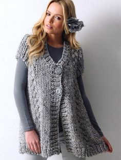 This cute sweater would make a nice comfy-cozy maternity cardigan!  James Brett pattern JB118