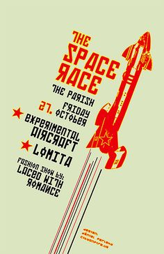 Retro Futurism At Its Best: Designs and Tutorials — Smashing Magazine Retro Futuristic, Futuristic Design, Band Posters, Cool Posters, Portrait Background, Space Shows, Space Race, Typographic Design, Grid Design