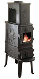 Morsø 2B Classic wood stove: this  extremely popular cast-iron wood stove accommodates logs up to 18 inches in length. Heats up to 1200 sq ft. Available from Rich's for the Home http://www.richshome.com/