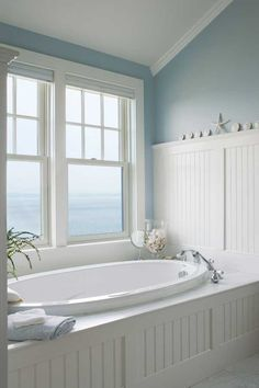 3 Ways to Design a Bath in an Early House - Old-House Online Beadboard & color