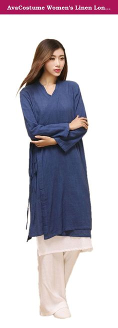 AvaCostume Women's Linen Long Nightgown Sleepwear Dress HanFu Chinese Clothing Navy. AvaCostume Company, Inc. is a China's designer, manufacturer and retailer of Halloween costumes and accessories. AvaCostume offers an extensive line of products for infants, children, teens and adults. Our vast selection extends beyond Halloween to other special occasions, as people around the globe celebrate Easter, Mardi Gras, St. Patrick's Day, Christmas, and more. You can easily get estimated delivery...