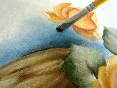 Pintura em tecido Eliane Nascimento: Pintando o fundo - Mashpedia Video