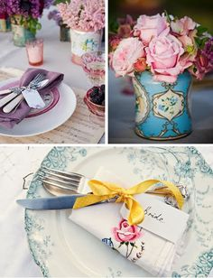 If she could marry George all over again, their wedding might look something like this. Boho, vintage details.