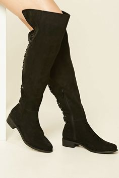 Faux Suede Knee-High Boots - Womens shoes and boots | shop online | Forever 21 - 2000201935 - Forever 21 EU English