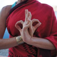 Fearless heart mudra - I learned with index and ring fingers touching.