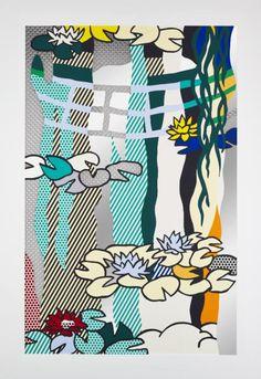 Roy Lichtenstein 'Water Lilies with Japanese Bridge', 1992 © Estate of Roy Lichtenstein/DACS 2015