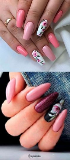 If you are searching for cute nail colors for spring and beautiful spring nail designs then check our Stylish nails especially Floral nails and butterfly nails. Nail Designs Spring, Cute Nail Designs, Art Designs, Flower Designs, Perfect Nails, Gorgeous Nails, Cute Nails, My Nails, Best Acrylic Nails
