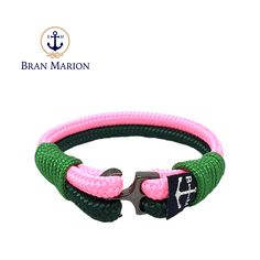 Maeve Nautical Bracelet by Bran Marion Nautical Bracelet, Nautical Jewelry, Green And Pink Make, Marine Rope, Captain Hook, Everyday Look, Handmade Bracelets, Color Combinations, Jewelry Collection