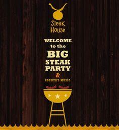 Steak House by Anna Kaczanowska, via Behance