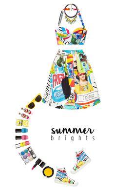 """Summer Brights | 14 Jun 2016 (1138)"" by kristinksn ❤ liked on Polyvore featuring Moschino, Kate Spade, Ranjana Khan, NARS Cosmetics, Lumene, Deborah Lippmann, Sugarpill, Chloe + Isabel and summebrights"