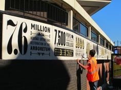 #typographic signage #design tells the story of Walsall in numbers