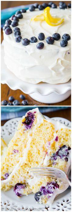 Sally's Baking Addiction | Delicious Lemon Blueberry Layer Cake!
