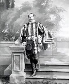 John Jacob Astor, Mrs. Astor's son who died on the Titanic in 1912, in costume for the Bradley-Martin Ball.