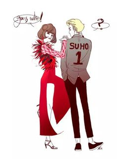Suho and Kris fanart | WOW I LOVE THIS FANART LOL