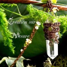 ᘛ création sur mesure ღ pour anne-laure ᘚ pendentif wire wrapping cuivre sur oeil de tigre