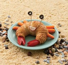 Crab Made from a croissant! Top 10 BEST CRAB SHAPED FOODS!!!!!