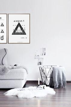 August 2014 Free Typographic Printable Calendar