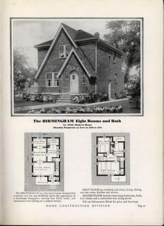 Homes of Today~Sears Kit Arched Front Door, Two Story House Design, Vintage House Plans, English Tudor, Hip Roof, Two Story Homes, Kit Homes, Inspired Homes, Historic Homes