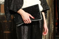 a sequin beaded pantsuit? yes! + red nails
