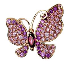 Alex Soldier Sapphire Topaz Gold Butterfly Pin Pendant Necklace One of a kind Butterfly Pin, Butterfly Earrings, Butterfly Pendant, Pink Topaz, Pink Sapphire, Gold Pendant Necklace, Rose Gold, Butterflies, Sapphire Jewelry