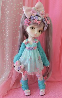Kira Kira Decora by PinkGunDollhouse Tiny Dolls, Ooak Dolls, Blythe Dolls, Disney Animator Doll, Kawaii Doll, Doll Repaint, Little Doll, Custom Dolls, Ball Jointed Dolls