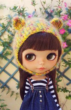 AVALIABLE mohair bear hat | by Mitilene - Dolls are good!