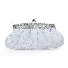 Gorgeous Satin With Austria Rhinestones Evening Clutches More Colors Available - USD $ 19.99
