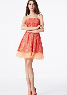 2016 Coniefox New Styles Off Shoulder Sweetheart Prom Party Cocktail Orange Mini Dress 31120 Strapless Dress, Prom Dresses, Summer Dresses, Cheap Cocktail Dresses, Lace Embroidery, Prom Party, Homecoming, Cocktails, Zipper