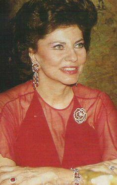 Soraya Esfandiari Bakhtiaria, seconde épouse et Reine consort de Mohammad Reza Pahlavi, le dernier Chah d'Iran