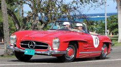 One of the most stylish cars taking part in Speed Week was this Mercedes-Benz 300SL Roadster, the open topped version of the famous Gullwing that was a dominant long-distance racer in its day.