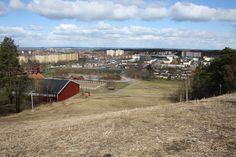 Vy över Hageby och övriga Norrköping.