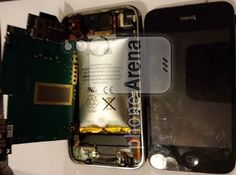 Battery blistering cracked iPhone