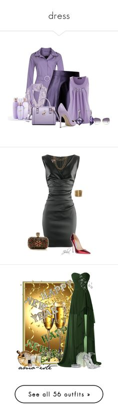 """""""dress"""" by peppersuzy ❤ liked on Polyvore featuring Allegri Milano, dELiA*s, Bebe, Candie's, Gianvito Rossi, MBaoBao, Baccarat, Dita, Talbot Runhof and Jimmy Choo"""
