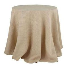 "80"" Round 10oz Natural Burlap Fabric Tablecloth. Serged on all sides. Be advised that the diameter of the tablecloth is 80"". Our 80"" burlap tablecloth comes with a seam across the fabric as burlap is not manufactured wider than 72"" in length. Handcrafted in the USA."