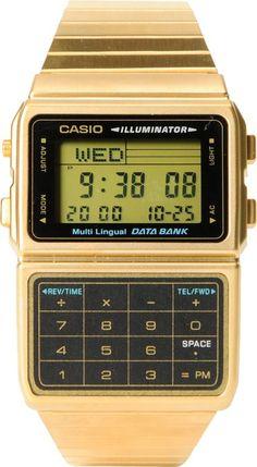 07ccd7b985c Casio DBC611-1 Gold Databank Watch