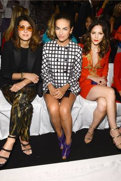 Marisa Tomei, Camilla Belle, and Katharine McPhee at Michael Kors, Spring 2013
