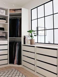 Vestidor blanco y negro